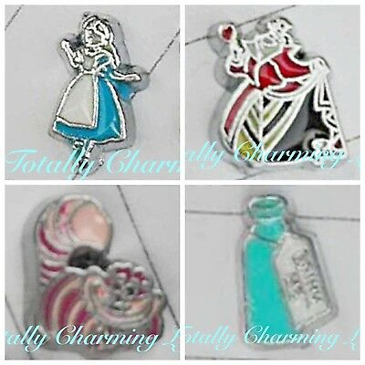 Alice In Wonderland Theme Set Floating Charm Fits Living Origami Memory Locket