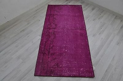 Free Shipping Rug Overdyed Turkish Rug Pink Overdyed Area Rug 2.4 ft x 5.3 ft