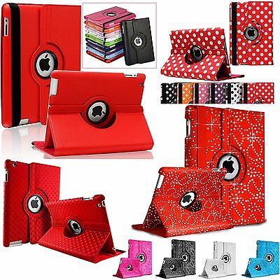 360 Degree Rotation Smart Leather Stand Cover Case For Apple iPad 3 4 Air 2 Mini
