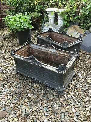 Rare Pair 19th Century Antique French Jardineres Planters with Gargoyle Designs
