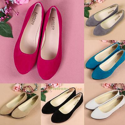 1dd1e645209 Womens Ladies Boat Shoes Casual Flat Ballet Slip On Flats Loafers Single  Shoes