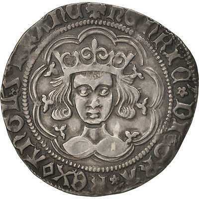 [#415399] Great Britain, Henry VI, Gros, 1427-1430, Calais, Silver