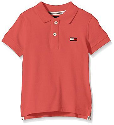 Rot (Cranberry 617) (TG. 12 anni) Tommy Hilfiger BIG FLAG POLO S/S-Polo Bambino