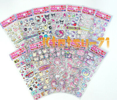 Sanrio Sparkle Puffy Stickers 362 pcs Hello kitty My melody Little twin stars...
