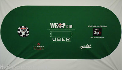 Official RIO WSOP - World Series of Poker - Official 8' Poker Table Layout - 2nd