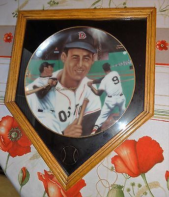 Ted Williams -- Sports Impressions Plate -- Signed In Gold Ink