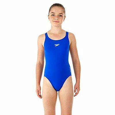 Blu (TG. 32 UK (14 anni)) Speedo End+ Medalist 1-Pce Grls Costume da Bagno Junio