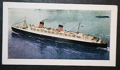 RMS  Queen Elizabeth    Cunard Liner     Illustrated Colour Card
