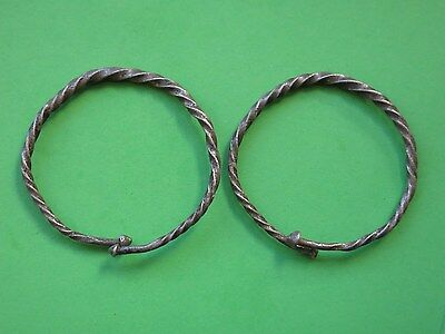 55. Roman Silver Bracelet     !!!  5 cm  !!!    Interesting    RR