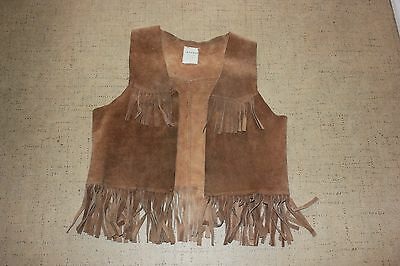 Childs size large FRINGED LEATHER VEST, KIDS SIZE good condition