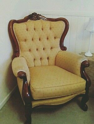 REDUCED Stunning Rare French Antique Rococo Ornate Vintage Chair Shabby Chic