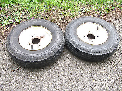 pair trailer wheels and tyres 400-8
