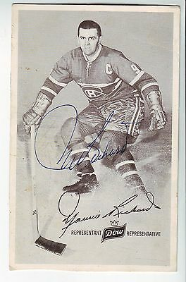 Montreal canadians Maurice Richard Signed post card autographed