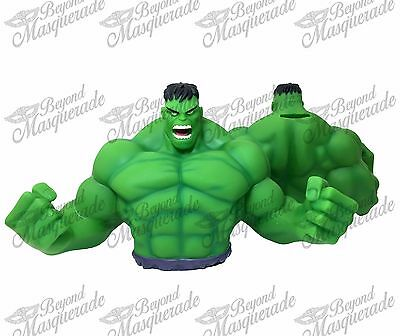 Marvels The Hulk PVC Bust Coin Bank 3D Toy Figure Piggy Bank