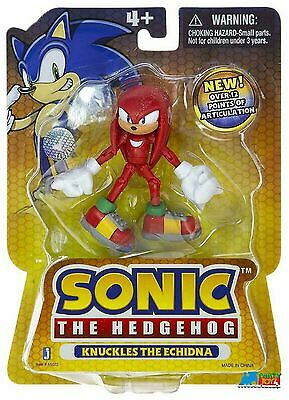 """Sonic The Hedgehog 3.5"""" Plastic Action Figure - Knuckles The Echidna"""