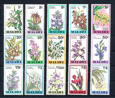 [50797] Malawi 1979 Flowers Orchids 15 Values MNH