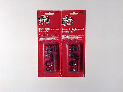 Vermont American 23165 Router Bit Replacement Bearing Set (2 Pack)