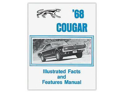 New 1968 Cougar Facts-Features Book Dealership Sales Literature XR7 Mercury