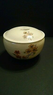"""Vintage Coors Thermo Pottery Pudding/Casserole with Lid, """"FLOREE"""" floral pattern"""