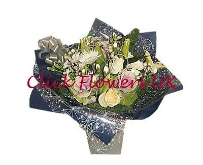 Fresh Flowers Delivered Winter Wonderland Florist Choice Mixed Bouquet