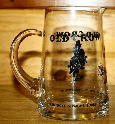 Vintage Old Crow Kentucky Straight Bourbon Whiskey Frankford Ky Pitcher