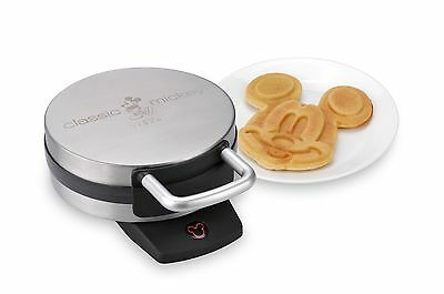 Disney DCM-1 Classic Mickey Waffle Maker Brushed Stainless Steel Mickey Mouse