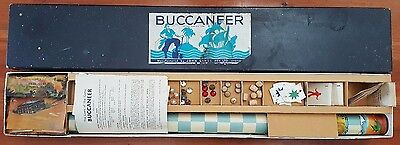 1930s Buccaneer Board Game - Roll Out Scroll - Complete