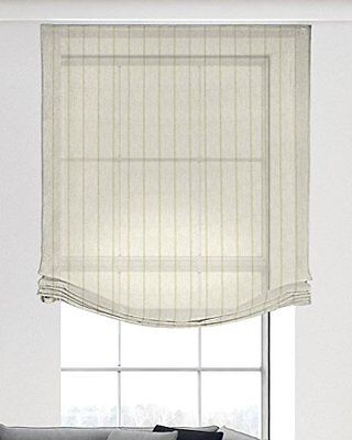Isabel Curtains 620 Roman Blind-Tenda in poliestere, colore: beige, Poliestere,