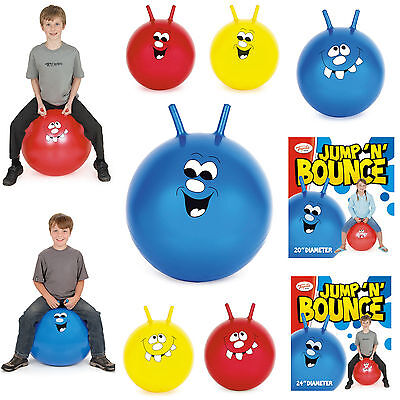 "20"" & 24"" Jump N Bounce Happy Space Hopper Ball Kids Childrens Outdoor Toy Game"