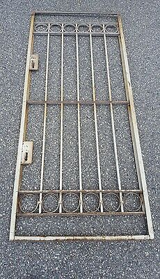 Local Pickup ONLY NJ -Vintage Wrought Iron Door from Manhattan NYC Brownstone