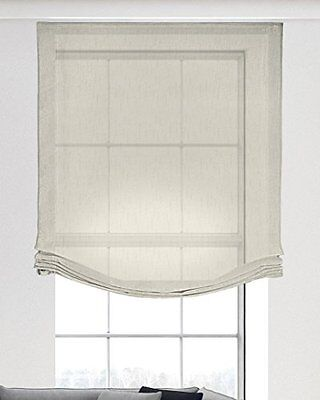 Isabel Curtains 632 Roman Blind-Tenda in poliestere, colore: beige, Poliestere,