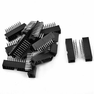 15 Pcs 20-Pin Dual Row Right Angle IDC Socket Box Header Connector Pitch 2.54mm