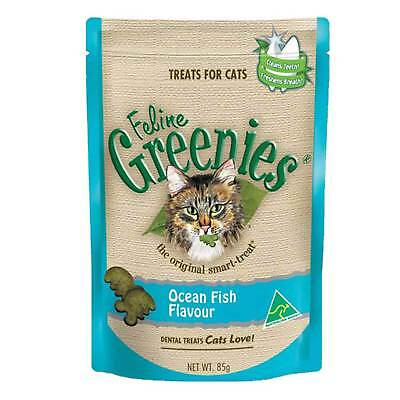 Greenies Feline Ocean Fish 85G Healthy Cat Treats Dental Kitten