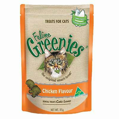 Greenies Feline Chicken 85G Healthy Cat Treats Dental Kitten
