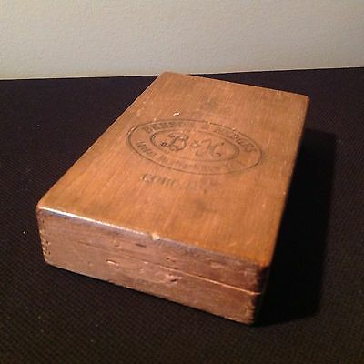 Vintage Benson & Hedges Box Jointed Wooden Cigar Box 10 Coronas