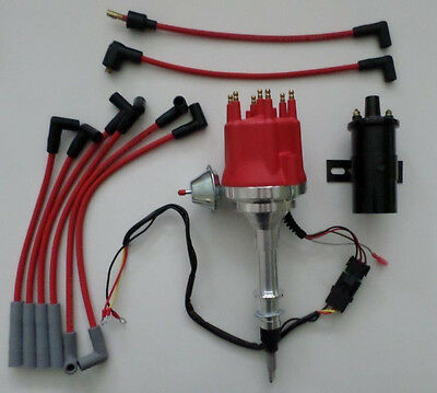 amc jeep inline 6 232 258 6 cylinder hei distributor red plug small cap amc jeep inline 6 232 258 hei distributor red plug wires