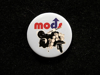 """Mods 1""""badge Button Pin New Uk Import"""