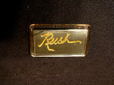 Vintage Rush Plastic/fabric Pin Uk Made Logo