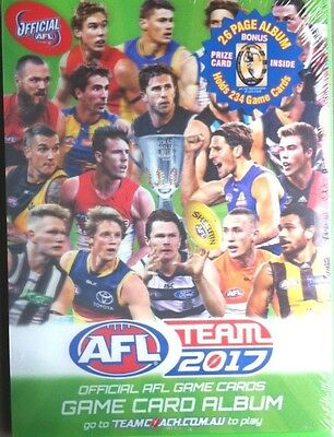 2017 Afl Teamcoach Footy Trading Cards Album + Bonus Prize Card - In Stock