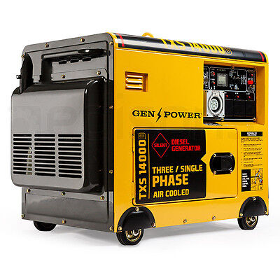 7kVA Max 5kVA Rated Diesel Generator Three Phase - 3 Commercial