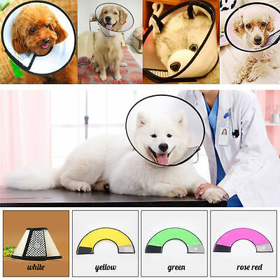 Pets Dog Cat Medical Collar Elizabethan Wound Healing Cone Bite-Proof Protector