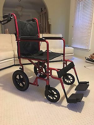Wheelchair - Lightweight Transit with Handle Brakes - NEW