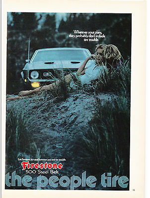 Original Print Ad-1972 FIRESTONE-Your plans probably don't include tire trouble.