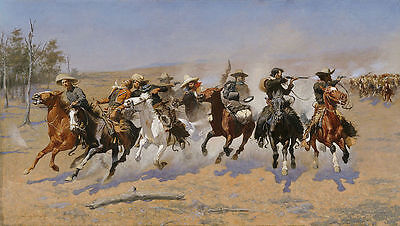 Remington Frederic A Dash for the Timber Giclee Canvas Print