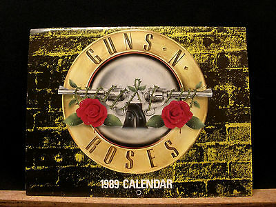 Small Used Guns N' Roses 1989 Vintage Official Calendar Uk Import