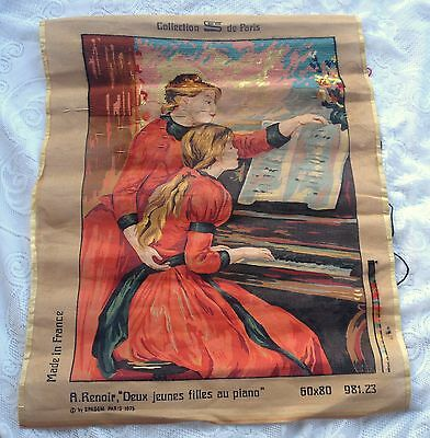 Needlepoint Canvas #981-23: PIANO LESSONS:Collection de Paris with yarn, (997)