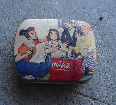 Vintage Retro Coca Cola Small Mint Lidded Tin LOOK