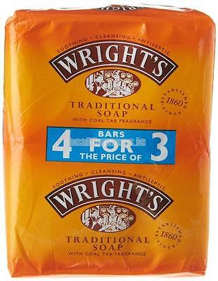 Wright's Antiseptic Coal Tar Soap, 125g, 4 Bars in Price of 3 For All Skin Types