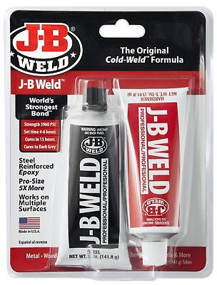 J-B Weld 8281 Professional Size Steel Reinforced Epoxy Twin Pack - 10 oz