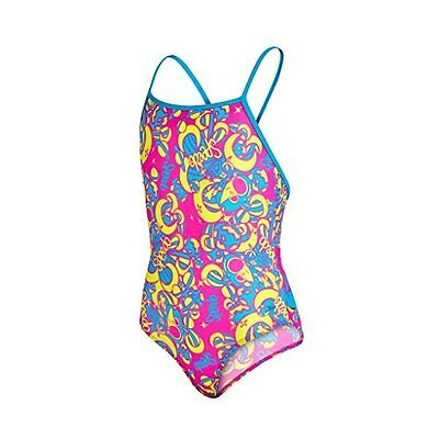 Speedo Ess Frill 1Pce If Costume, Bambina, Multicolore (Pink/Blue), 2